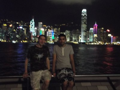 Martin and I at Hong Kong harbour in 2012