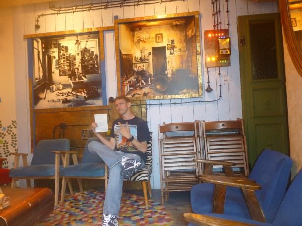 My room for writing at Jozef K Bar, Gdańsk.