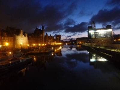 Nightfall in Gdańsk.
