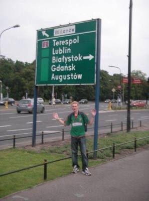 Tell tale signs were there - even back in 2007 - this photo taken in Warszawa with a sign for Gdańsk...