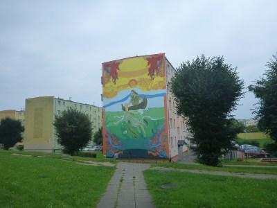 Mermaid mural in Tczew