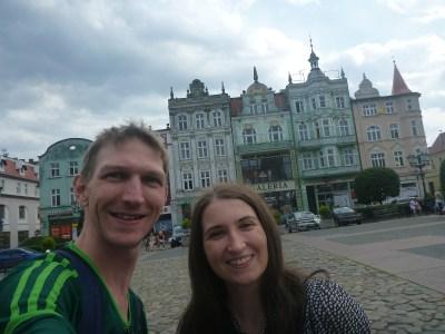 Justyna and I at Plac Hallera