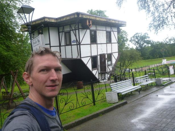 Upside Down House in Park Yunost