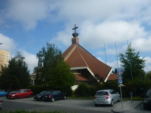 Church in The District of Zaspa, Gdańsk, Poland