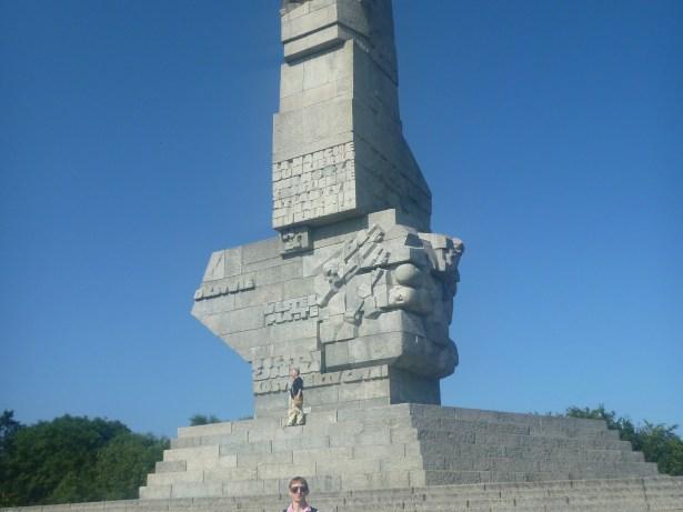 Westerplatte, Gdansk, Poland where World War II began.