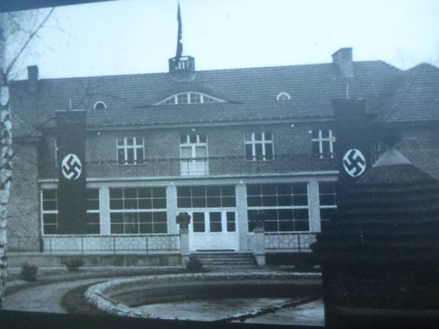 What the Command House looked like under German rule