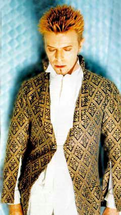 Bowie with Alexander McQueen redingote worn during Earthling tour (1997)
