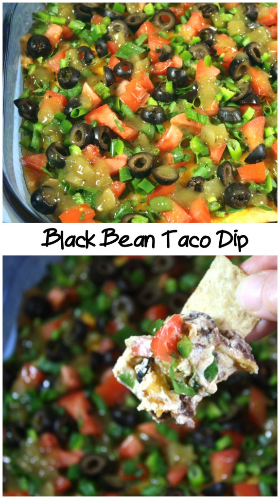 Black Bean Taco Dip - This dip is perfect for game day! by Don't Sweat The Recipe