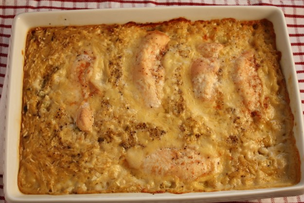 Baked Chicken and Rice - One pan meal is always a retreat from the kitchen. by Don't Sweat The Recipe