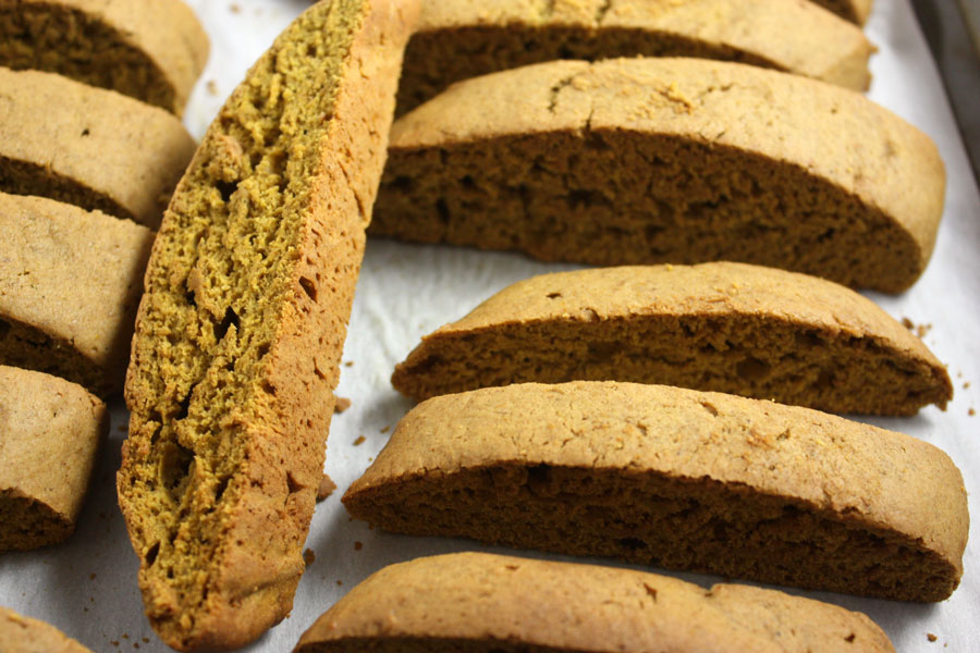 Pumpkin Spice Latte Biscotti - by Don't Sweat The Recipe