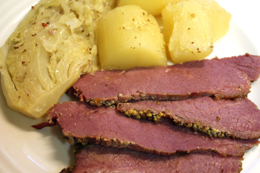 Corned Beef with Mustard Sauce. This corned beef is so flavorful, moist and tender.