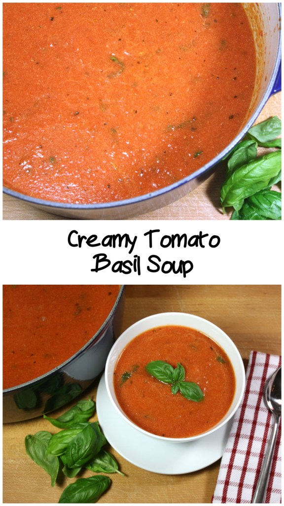 Creamy Tomato Basil Soup - This is a must have cold weather recipe.