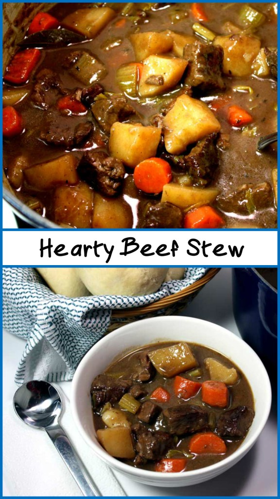 Hearty Beef Stew - Thick, rich and amazingly delicious. The beef melts in your mouth.