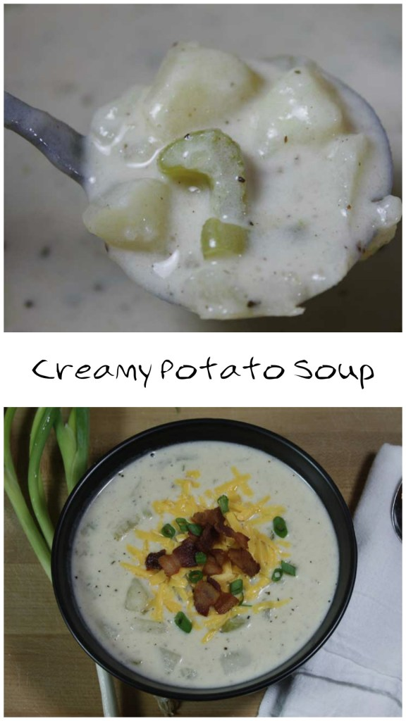 Creamy Potato Soup - Creamy, thick and absolutely delish! by Don't Sweat the Recipe