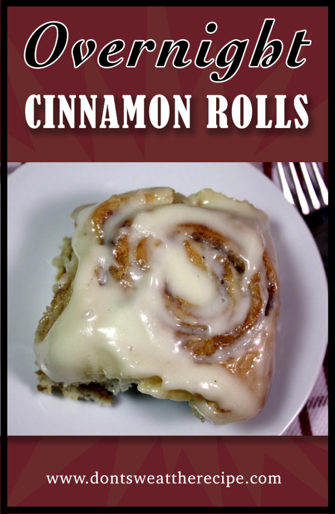 Overnight Cinnamon Rolls - These are so easy to whip up the night before and bake in the morning.