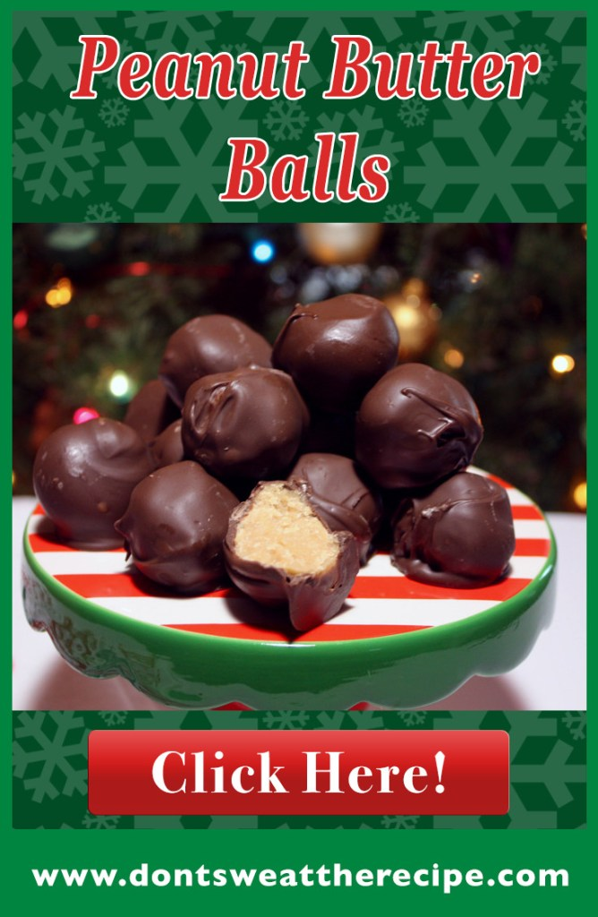 Peanut Butter Balls - Only 4 ingredients and so delicious! These are the perfect Holiday treat to share with friends and neighbors.