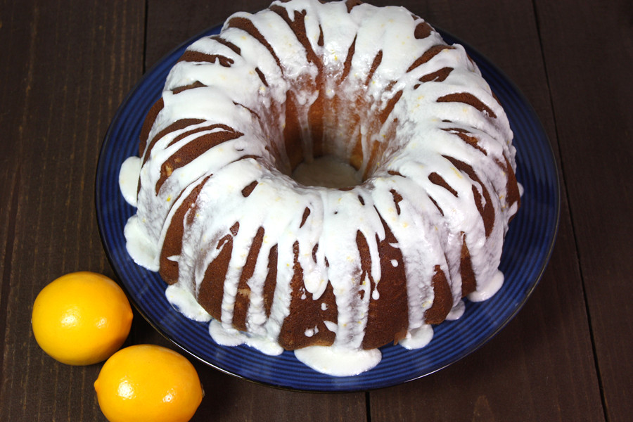 Meyer Lemon Bundt Cake - Moist, tender, lusciously tangy and not too sweet! by Don't Sweat The Recipe
