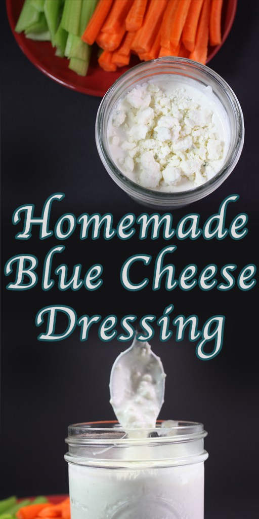 Blue Cheese Dressing - Creamy, tangy and chunky blue cheese dressing in just 5 minutes!