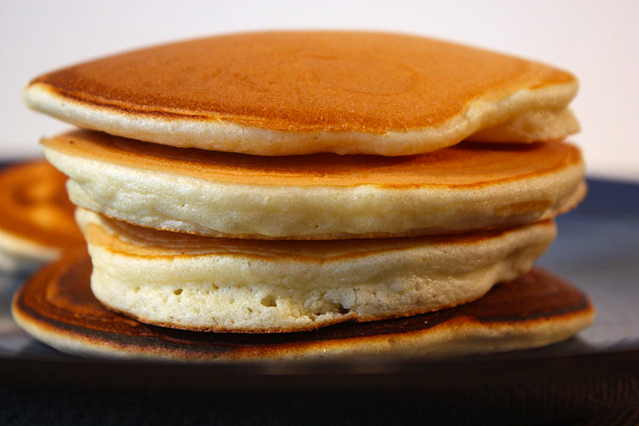 pancakes stacked