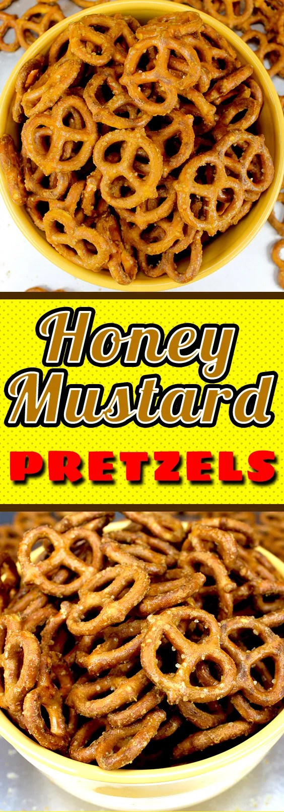 Honey Mustard Pretzels - A prefect salty, sweet and crunchy snack. You have been warned these are ADDICTIVE!