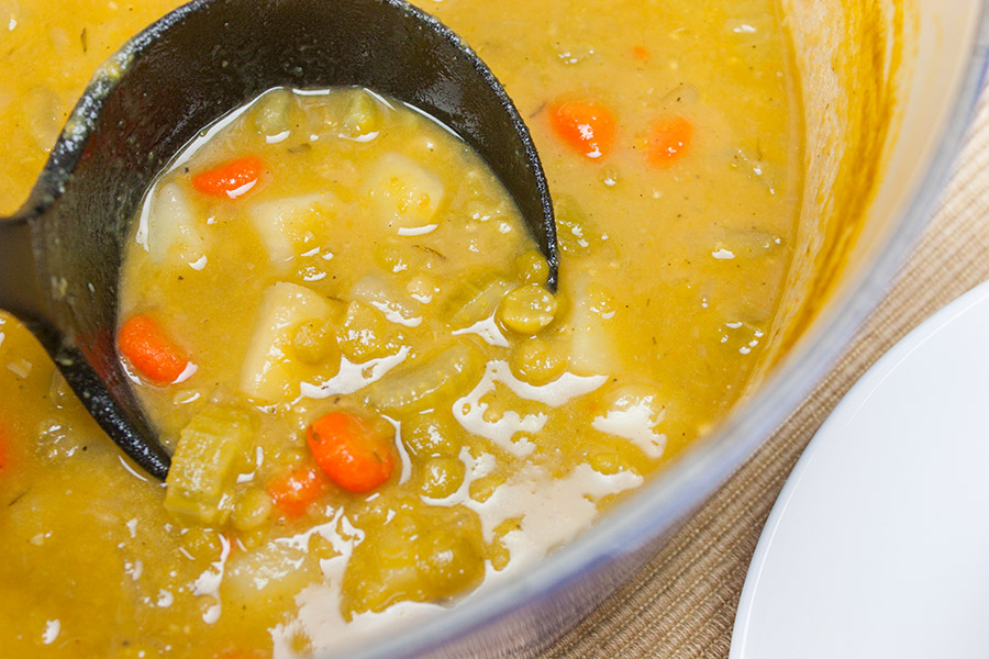 Vegan Split Pea Soup - A simple, hearty and complete meal!