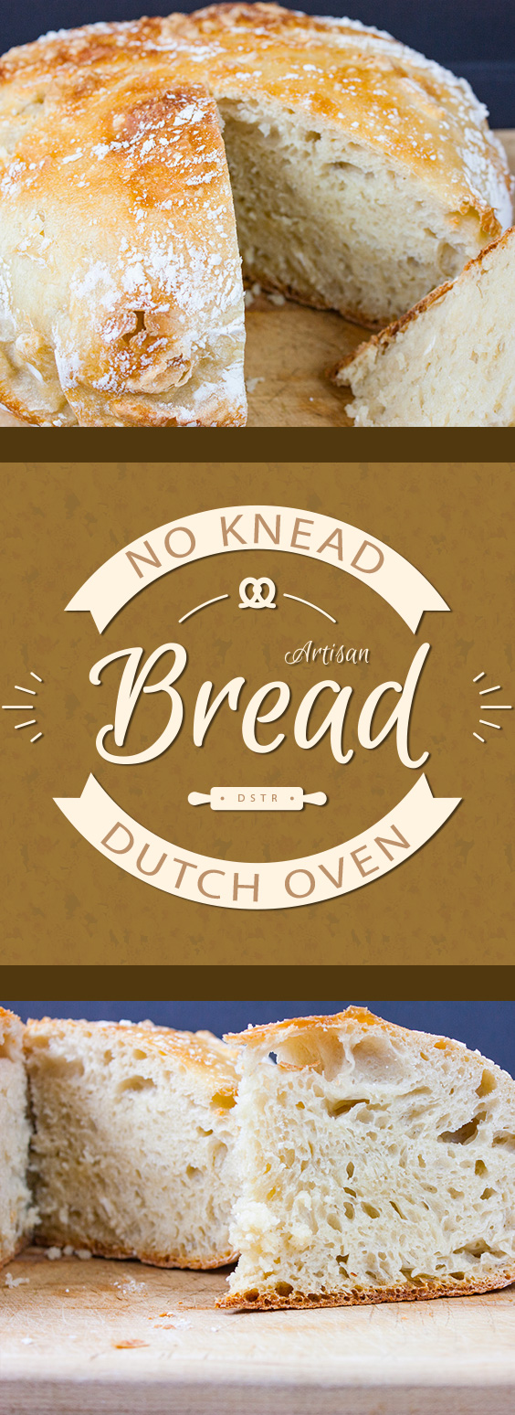 No Knead Large Dutch Oven Artisan Bread - This recipe is perfect for those of us who only own a 5-6 quart dutch oven. The bread rises tall, crispy and crazy good!