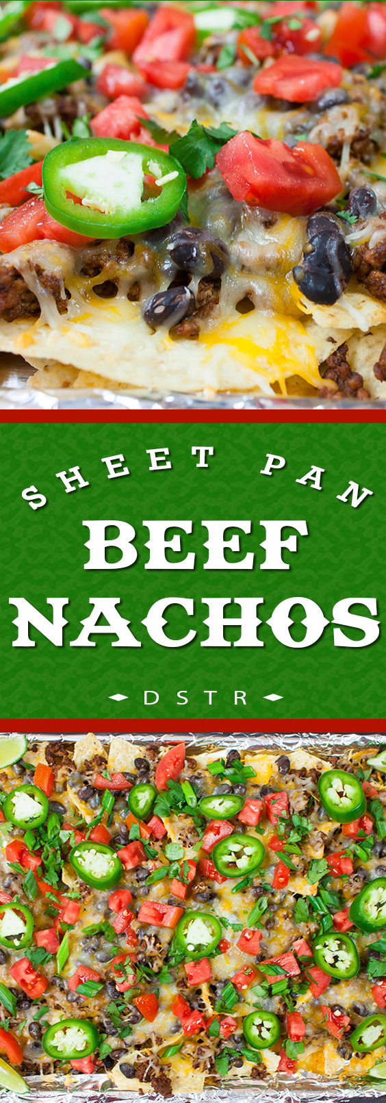 Sheet Pan Beef Nachos - Quick, easy and sure to please a crowd or just dinner for the family!
