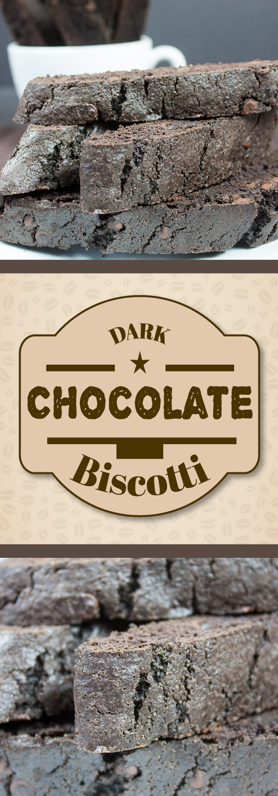 Dark Chocolate Biscotti - It's not just for the holidays! Enjoy one with your afternoon coffee anytime of the year.