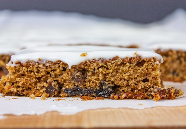 Old fashioned Raisin Bars - Moist, with a tender crumb, plump raisins and perfectly spiced.