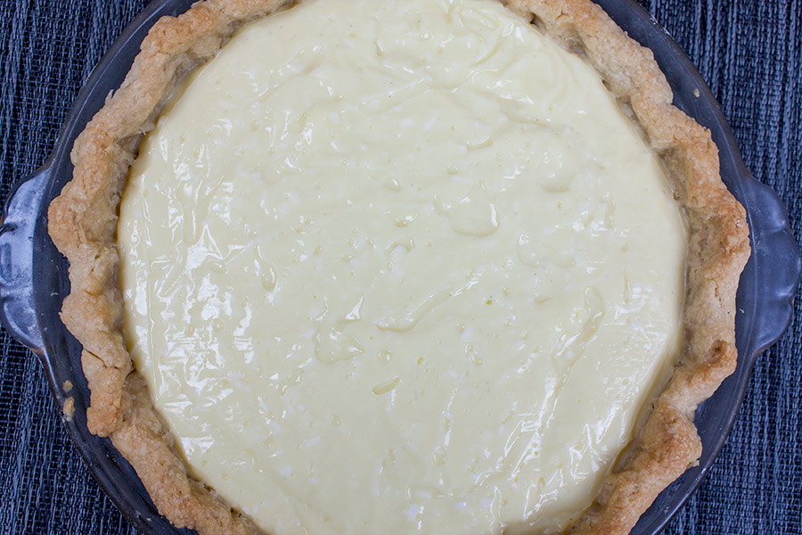 Coconut Cream Pie in baked crust
