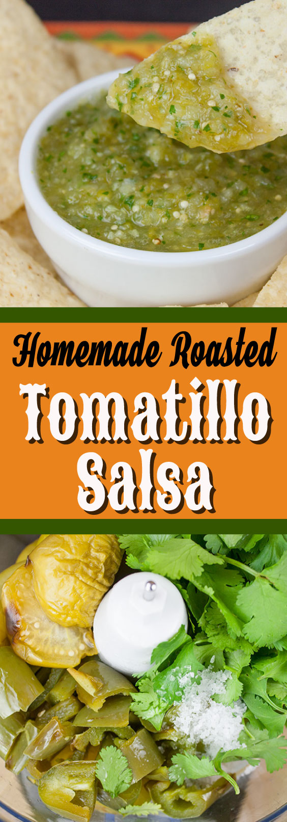 Homemade Roasted Tomatillo Salsa (salsa verde) - Just like your favorite restaurant's, if not better! Easy, fresh, bright, delicious and so much better than the over salted store bought kind.