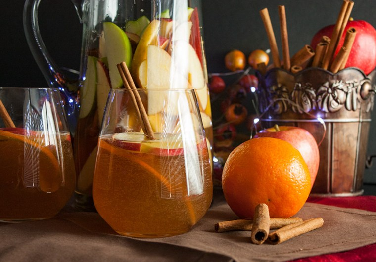 Cider Ginger Beer Sangria - Bring those cozy flavors of fall to your cocktail hour. Crisp and refreshing Fall in a glass.