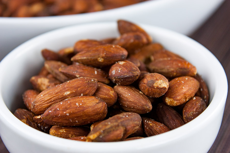 Roasted Salted Almonds - Way more cost effective and definitely tastier. Easiest recipe ever!