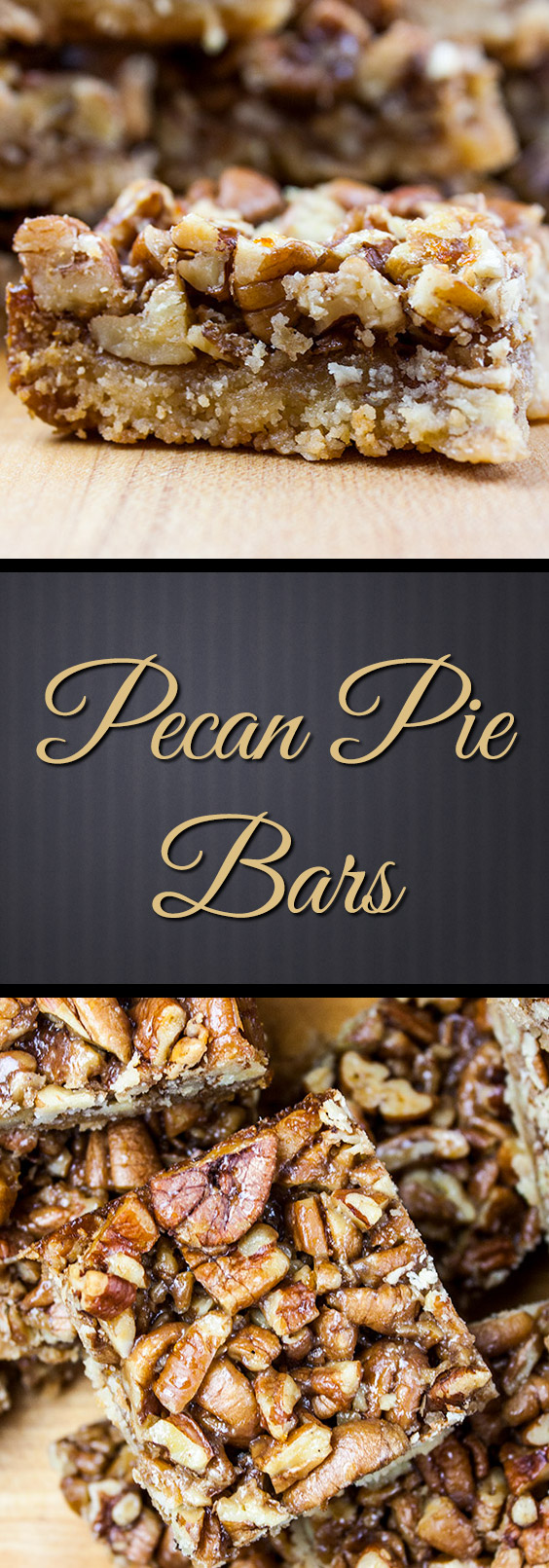 Pecan Pie Bars - A yummy shortbread crust topped with a buttery, nutty pecan pie layer! Warning: HIGHLY addictive!