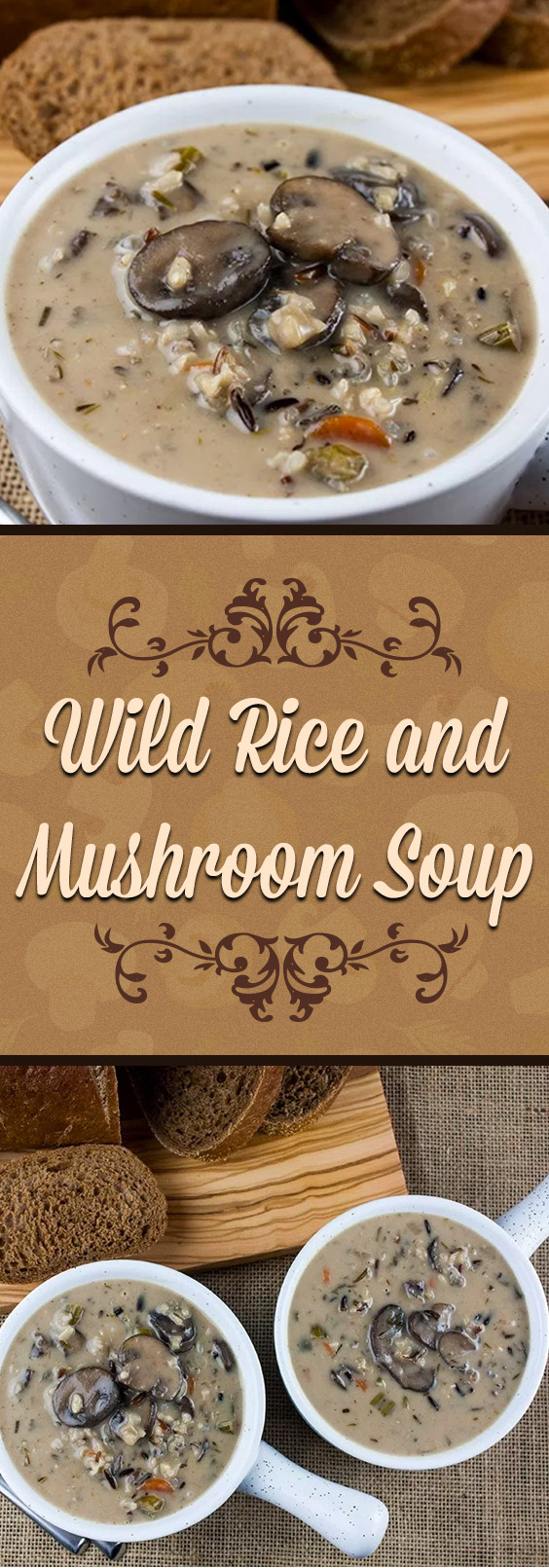 Wild Rice and Mushroom Soup - A creamy, rich, hearty soup that's full of deep earthy flavors. Perfect for staying warm this winter.