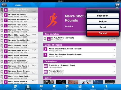 London 2012 Olympics iPad app Review