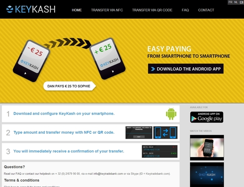 Keytrade Bank's iPad app and KeyKash Android app