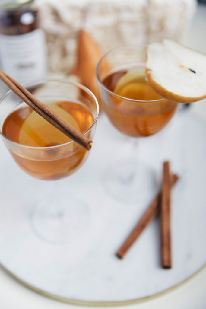 Fall Spiced Bourbon and Pear Cocktail