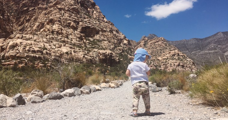 Hiking Red Rock Canyon with a Toddler