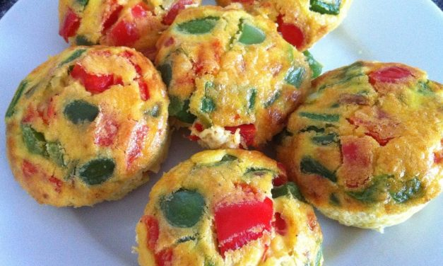 Gluten-Free Bell Pepper-Egg Breakfast Muffins
