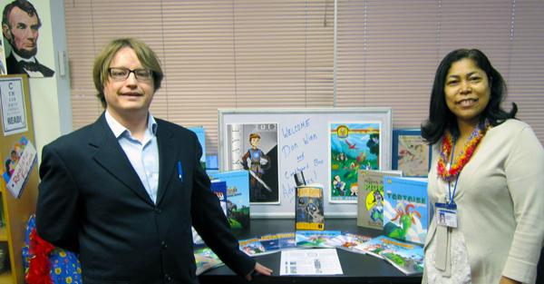book display and teachers