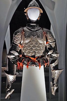 07 armor and helmet on display
