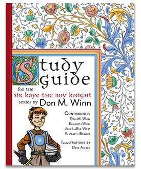 The cover image to the Sir Kaye the Boy Knight study guide, which is a lesson plan that can be used with the entire four-book series. It builds vocabulary, improves reading comprehension, stimulates critical thinking, and inspires creative writing. Contains a historical appendix with information about the middle ages.