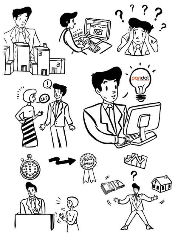 infographic for French business animation