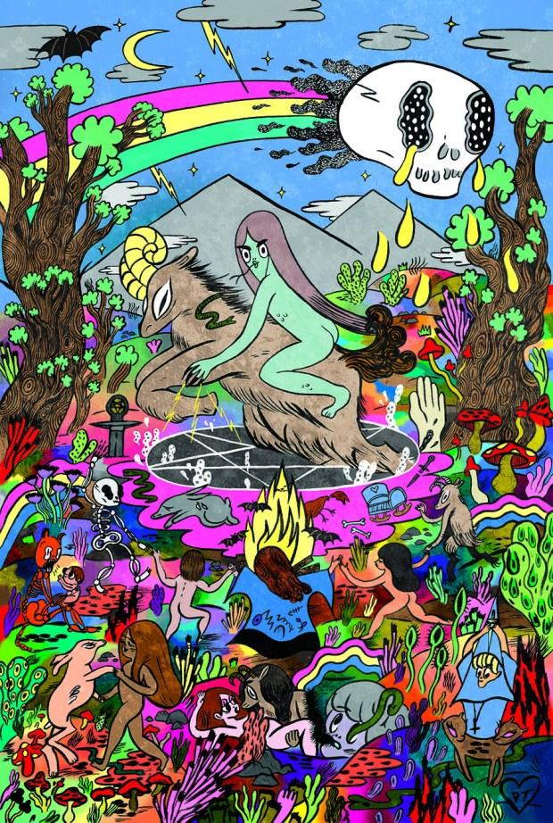 """Donya Todd's artwork for 'Winnebago Graveyard"""" Image Comics"""
