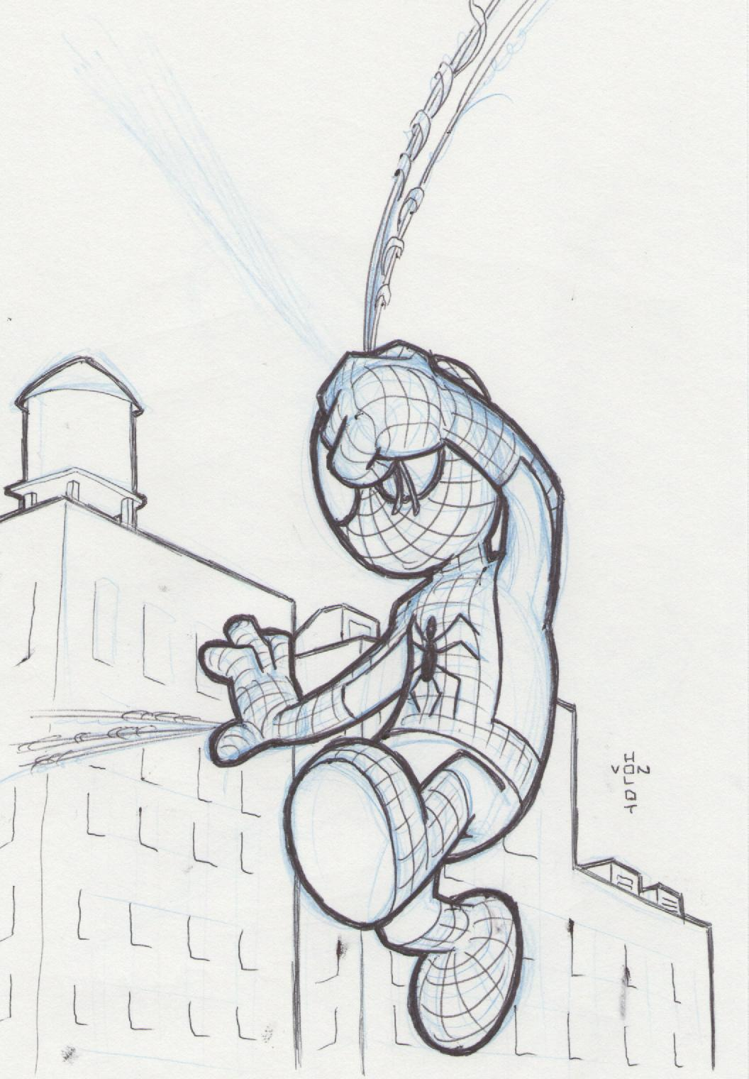 Spider Man Doodle A Day