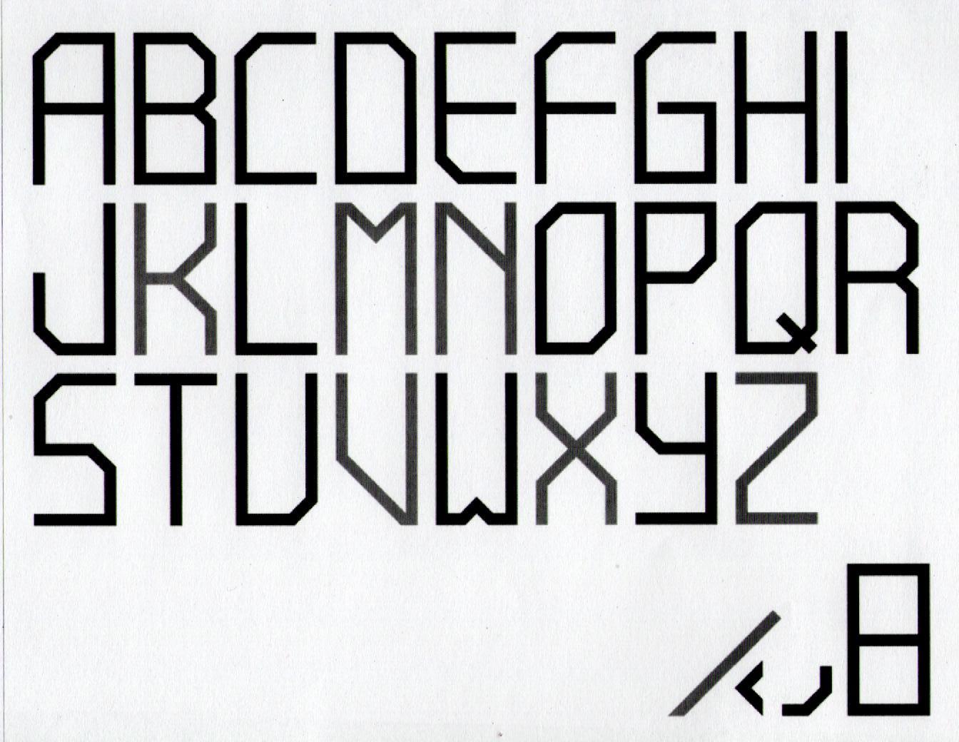 Doodle 994 Block Letters