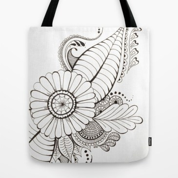 Tote bag http://society6.com/HeidiDenney/Delicate-Floral_Bag#26=196