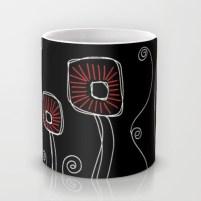 Mug http://society6.com/HeidiDenney/Deco-Flora-Black_Mug#27=199