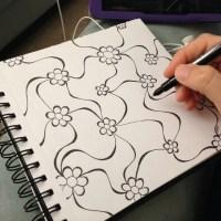 Floral Web Doodle